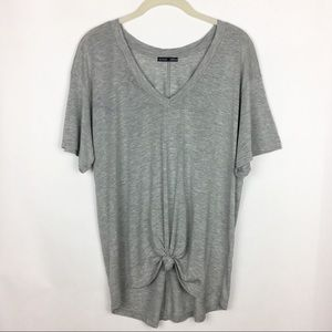 Zara Collection Tie Front V Neck T Shirt